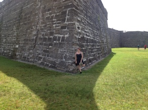 Christine protecting the fort.