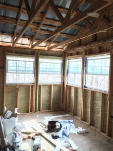 The new kitchen with wrap around windows